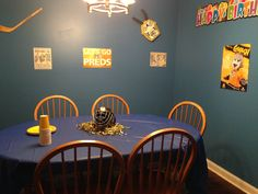 Nashville Predators hockey themed birthday party on a budget.  We used things we have gotten at the Preds games over the past few years.  #hockey #nashvilepredators #hockeybirthday