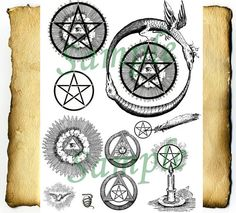 Digital Graphics Enlightened Pentacle  BoS by CauldronCraftOdditys, $2.50