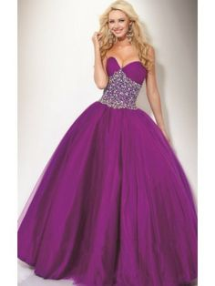Front: Fascinating Ball Gown Sweetheart Sequin Floor-Length Taffeta Dress