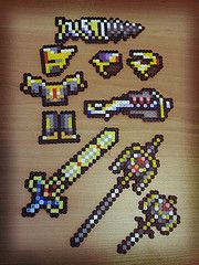 Terraria hallowed items (oulosvie) Tags: beads hama perler terraria flickrandroidapp:filter=tokyo