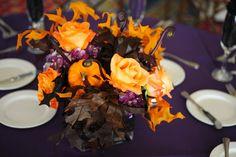 Halloween wedding flowers #fallwedding #octoberwedding #halloweenwedding