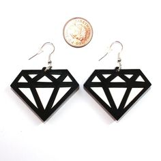 Sour Cherry - Black and White Diamond Earrings, £18.00 (http://www.sourcherry.co.uk/black-and-white-diamond-earrings/)