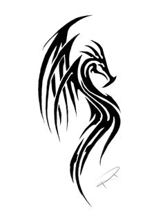 tribal dragon tattoo gallery - Google Search