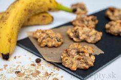 Ovseno-banánové cookies s proteínom Sweet Desserts, Granola, Protein, Cheesecake, Good Food, Smoothie, Food And Drink, Low Carb, Vegan