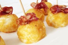 Keto Bacon Cheese Puffs Recipe is so delicious and easy to make. Keto cheese balls with Bacon is the best recipe for easy Keto weight loss Chicken Croquettes, Croquettes Recipe, Les Croquettes, Tapas, Bacon Potato, Potato Fry, Puff Recipe, Air Fryer Healthy, Healthy Soup Recipes