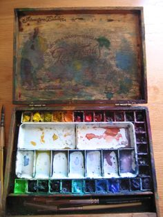 How to Make a POCHADE BOX for Painting Plein Air with Watercolor in 14 Easy Steps : paintmorenow.com