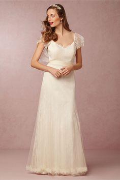 Tallis Flutter Sleeve Wedding Gown from BHLDN