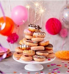 Delectable doughnuts for every celebration Krispy Kreme Celebrations! Delectable doughnuts for every celebration Krispy Kreme Birthday, Krispy Kreme Donut Cake, Doughnut Cake, Birthday Breakfast, Birthday Brunch, Birthday Cake, Donut Birthday Parties, Donut Party, Aniversario Star Wars