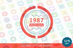 1987+ Vector Icons Bundle by Dreamstale on Creative Market