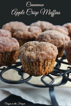 Vegan Cinnamon Apple Muffins are topped with a sweet cinnamon crunch