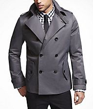 trench-style pea coat