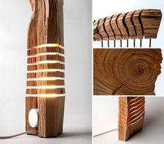 Aujourd'hui on vous présente une merveille, il s'agit d'une lampe sculpture en bois réalisée par le designer américain Paul Foeckler.
