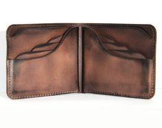 personalized leather wallet mens vintage wallet 8card slots personalization leather wallet women men custom initial wallet in vintage brown