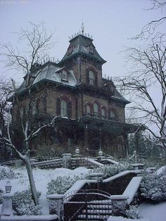 Phantom Manor, my sister's Dream Home. I wouldn't mind it either, with fewer ghosts though >w