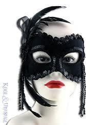 fancy masquerade mask black