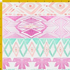 Navajo Southwest Tribal style in radiant orchid by PattyLuDesigns