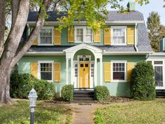 This colorful home stands out on its block #curbappeal #hgtvmagazine http://www.hgtv.com/design/outdoor-design/landscaping-and-hardscaping/curb-appeal-across-the-country-pictures?soc=pinterest