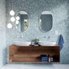 Redecor - Calliope^2 Polished Concrete, Beauty Inside, Other Rooms, Humble Abode, Rustic Design, Room Interior, Double Vanity, Interior Decorating, Room Decor