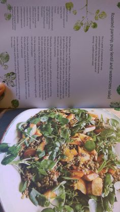 Parsnip, puy lentil and watercress salad