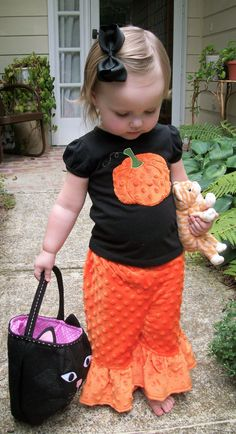 Minky Dot Halloween Outfit. $32.50, via Etsy.