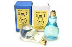 Light bulb shaped Sake bottle  高垣酒造場の「電球の酒 てんきゅう」