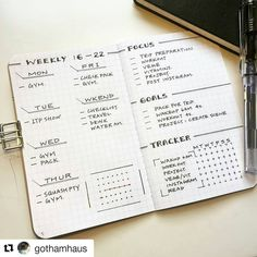 Dara @gothamhaus created this beautifully clear-cut weekly #bulletjournal #planner