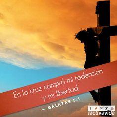 Gálatas 5:1 Estad, pues, firmes en la libertad con que Cristo nos hizo libres, y no estéis otra vez sujetos al yugo de esclavitud. ♔