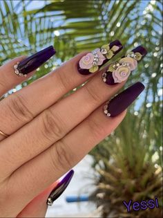Time to beautify your nails with creative Designs. Nail Art Designs are in vogue. Find the rarest and unique ideas to adorn glam nails with Nail. 3d Nail Art, 3d Acrylic Nails, Summer Acrylic Nails, 3d Nails, 3d Nail Designs, Acrylic Nail Designs, Glam Nails, Bling Nails, Rhinestone Nails