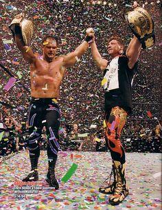 World Heavyweight Champion Chris Benoit and WWE Champion Eddie Guerrero Wrestlemania XX
