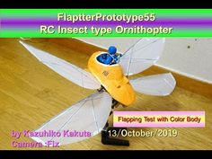Flapping Test 2 with Color Body Robot Bird, Wow Video, Diy For Kids, Birds, Youtube, Color, Colour, Bird, Youtubers
