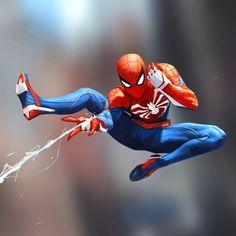Webbin' Time by Milen Dimitrov Superman And Spiderman, Spiderman Suits, Spiderman Spider, Amazing Spiderman, Spider Man Ps4, Iron Spider, Marvel Art, Marvel Heroes, Marvel Comics