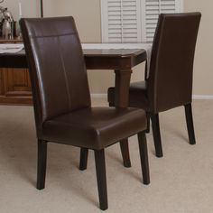 Angelo Studio Dining Chair 2-pack | Black leather dining ...
