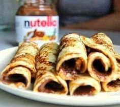 Nutella crêpes !  Tag a friend who might love it !  by lwc_food