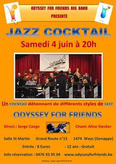 """Bonjour le monde ! Un bon moment Jazzy à Genappe le 4 juin 2016 avec Odyssey For Friends Big Band ! Li P'ti Fouineu vous salue bien ! Programme-jazz-coktail-04-06-2016.pdf Partager la publication """"Odyssey concert du 4 juin"""" FacebookGoogle+PinterestTwitterTumblrEmailMarque-pageImprimer"""