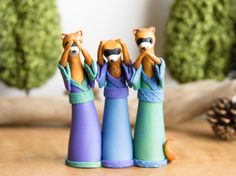 Hey, I found this really awesome Etsy listing at https://www.etsy.com/listing/221400030/the-three-wise-weasel-poupettes-by