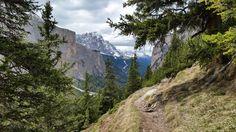 """Chodníkem """"to se nedá neběžet"""" dolů do údolí Val Longita"""