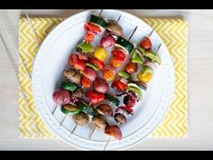 Grilled Veggie Kabobs. Made these last night. Tripled the Siracha. Bomb AF