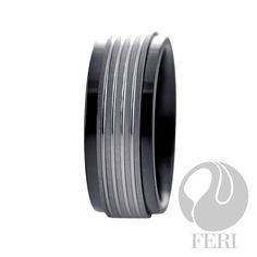 FERI Tungsten - Ring - Tungsten and hi-tech ceramic ring - Shell inlayed… Tungsten Mens Rings, Optical Glasses, Luster, Sterling Silver Jewelry, Wedding Rings, Display, Ceramics, Engagement Rings, Confidence