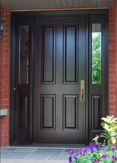 front door with sidelights | Five reasons why custom-made doors are better