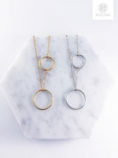 Small Circle, Circle Necklace, Pendant, Simple, Silver, Gold, Gifts, Accessories