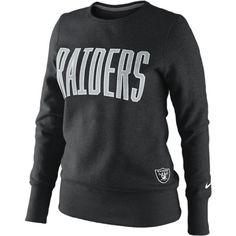 Nike Tailgater Fleece NFL Oakland Raiders Women's Sweatshirt - Black,... ($55) ❤ liked on Polyvore