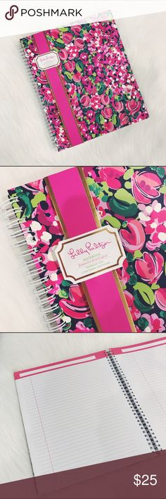 """🎄SALE🎄Lilly Pulitzer Confetti Spiral Notebook Wild Confetti, large Hardcover notebook with spiral and lined sheets, size small/medium, perfect for a purse or backpack. Measurements: 9 1/4""""x 11"""" brand new.  ✅Check my other Kate Spade and Lilly Pulitzer items, great for Christmas Gifts.            🎄20% off bundle 2 items or more!🎄                             •NO TRADING                             •smoke free                             •fast shipper  ❤️Ask for lower shipping! Today only❤️…"""