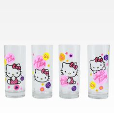 Fresh design #HelloKitty glasses for yummy beverages