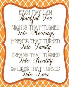 Each Day I Am Thankful For... Free Printable from FrugalBeautiful.com (and tons more gratitude printables!)