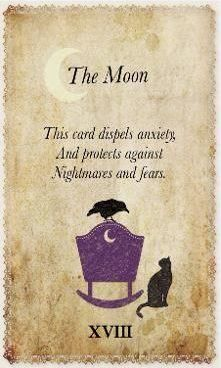 White Magic Tarot Spell Cards - XVIII - The Moon
