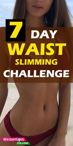 Every lady wants an hourglass figure, but are you up for the challenge? Get a slim waist + Workout challenge. Skinny rules for women to get a flat tummy. Slim Waist Workout, Belly Fat Workout, Small Waist Workout, Mommy Tummy Workout, Skinny Girl Workout, 7 Workout, Workout Challenge, Workout Plans, One Week Workout