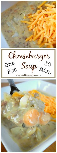 If you love Cheeseburgers, you'll love this 30 minute, one pot, cheeseburger soup. It's simple, creamy and reheats well. It's a new family favorite!