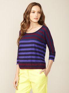 Splendid  Knit Striped Combo Top (bought)
