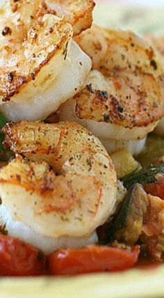Garlic Shrimp with Italian Roasted Vegetables