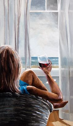 Ocean Breeze by Victor BauerYou can find Wine time and more on our website.Ocean Breeze by Victor Bauer Woman Painting, Painting & Drawing, Painting Canvas, Canvas Canvas, Acrylic Canvas, Painting Abstract, Body Painting, Urbane Kunst, Best Canvas